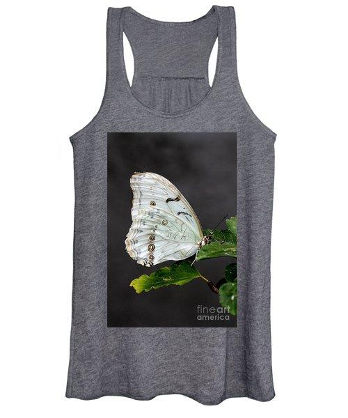 White Butterfly Women's Tank Top