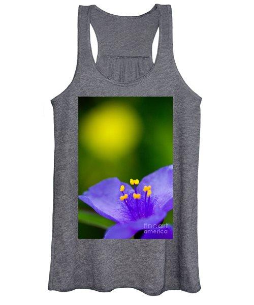 Wild Purple Spiderwort Wildflower Women's Tank Top