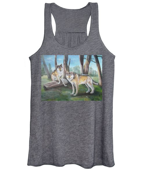 Wolves In The Forest Women's Tank Top