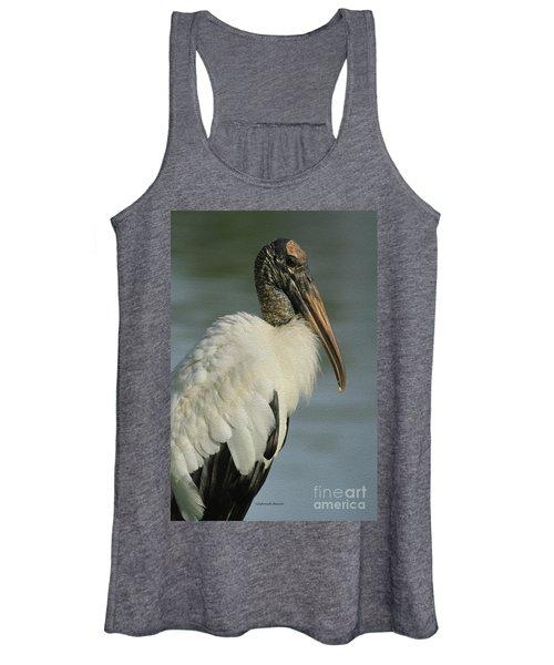Wood Stork In Oil Women's Tank Top