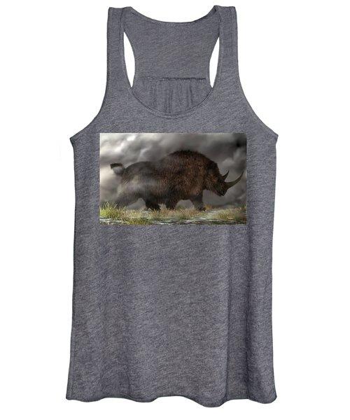 Woolly Rhinoceros Women's Tank Top