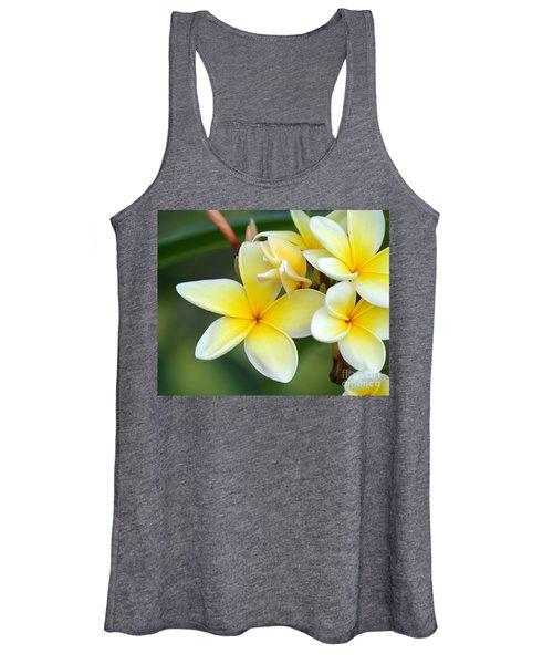 Yellow Frangipani Flowers Women's Tank Top
