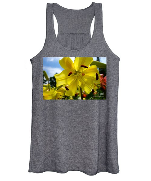 Yellow Whopper Lily 2 Women's Tank Top