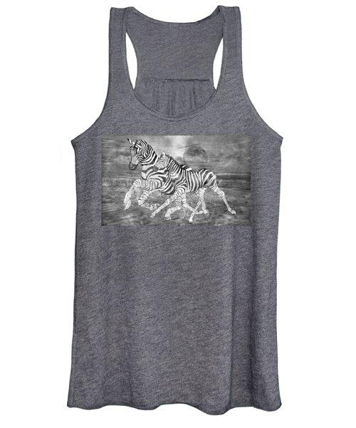 Zebras I Of II Women's Tank Top