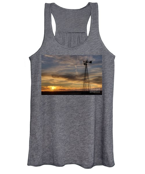 Windmill And Sunset Women's Tank Top