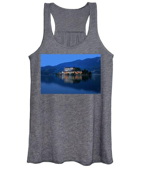 Island Of San Giulio On Lake Orta Women's Tank Top
