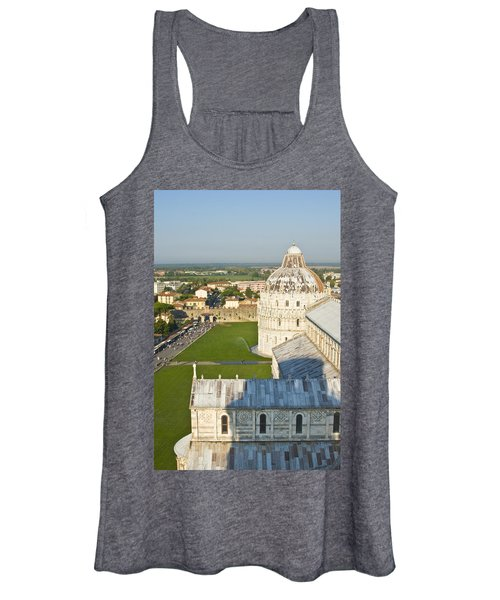 A View From The Bell Tower Of Pisa  Women's Tank Top