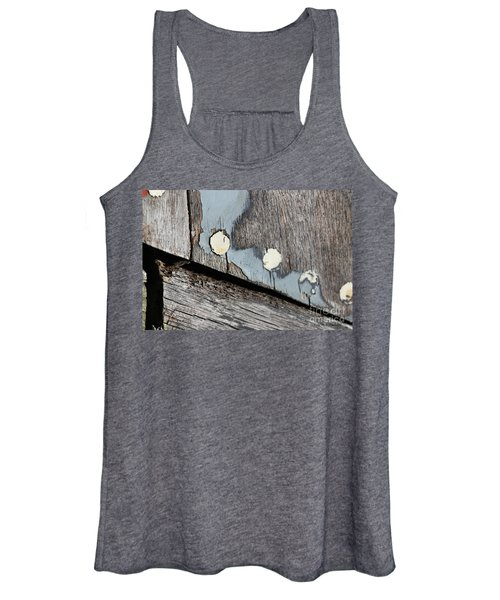 Abstract With Blue Women's Tank Top