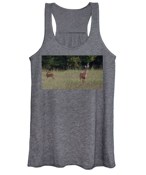 Alert Doe And Fawn Women's Tank Top