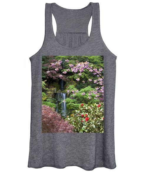 Arching Cherry Blossoms Women's Tank Top