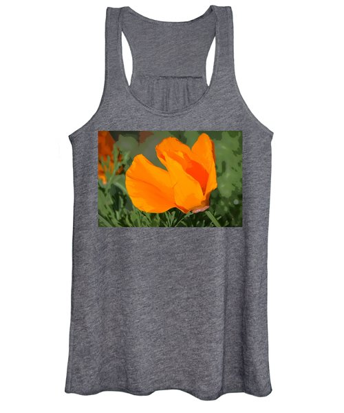 California Poppy2 Women's Tank Top
