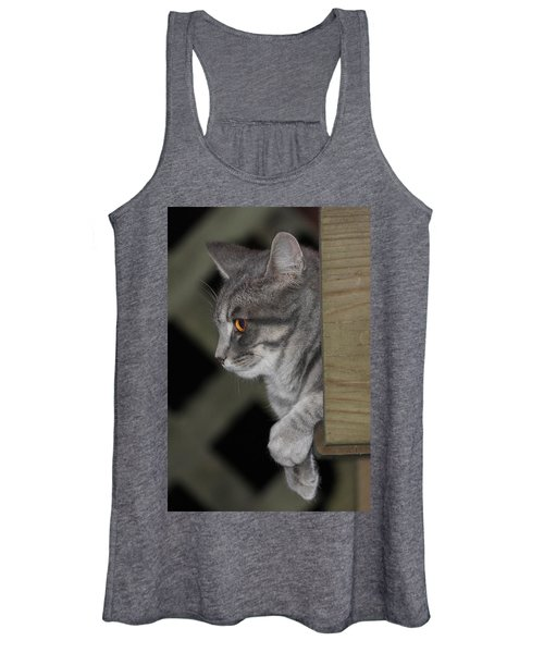Cat On Steps Women's Tank Top