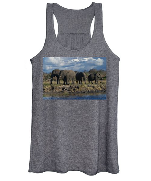 Clouds And Elephants Women's Tank Top