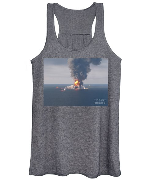 Deepwater Horizon Fire, April 21, 2010 Women's Tank Top