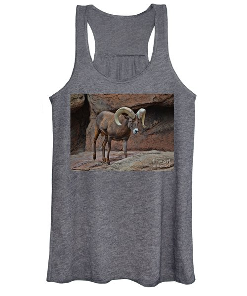 Desert Bighorn Sheep Ram I Women's Tank Top