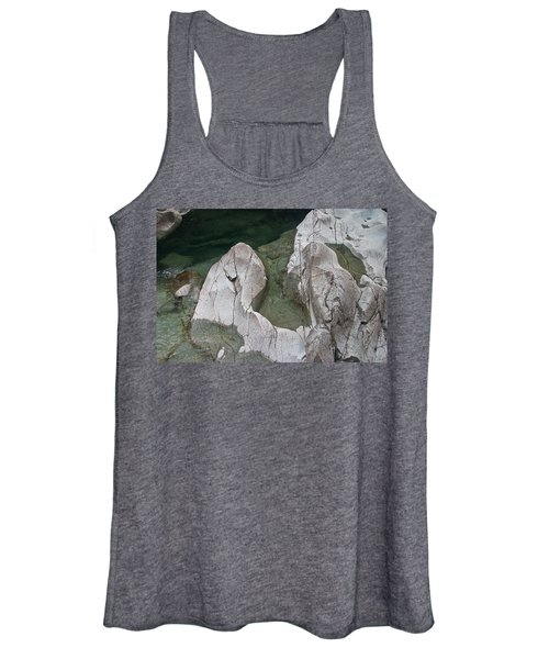 Etched Rock Water 5 Women's Tank Top