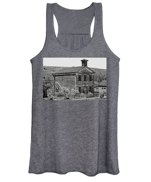 Free Masons Clubhouse - Bannack Montana Ghost Town Women's Tank Top