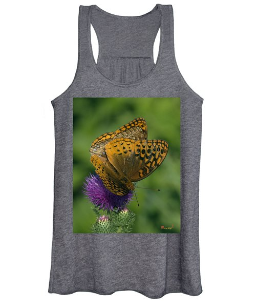 Great Spangled Fritillaries On Thistle Din108 Women's Tank Top
