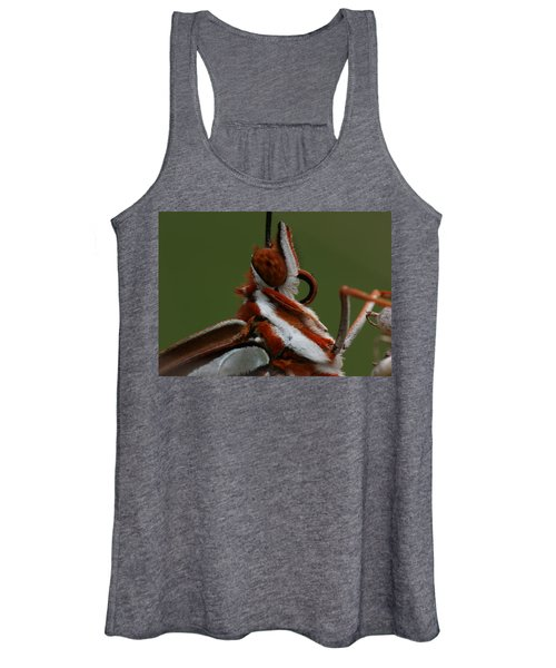 Gulf Fritillary Butterfly Portrait Women's Tank Top