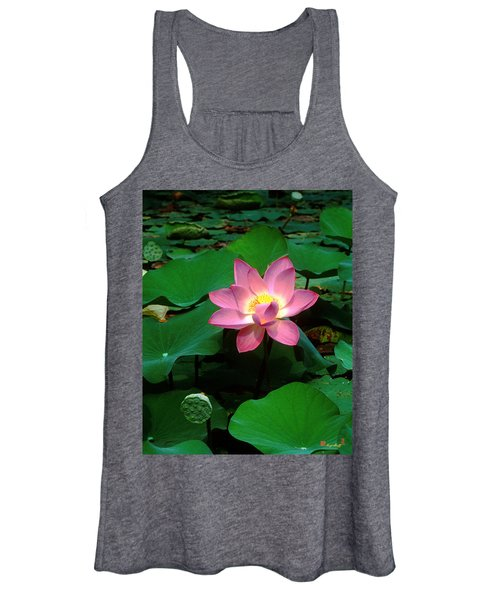 Lotus Flower And Capsule 24a Women's Tank Top