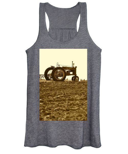 Old Tractor I In Sepia Women's Tank Top