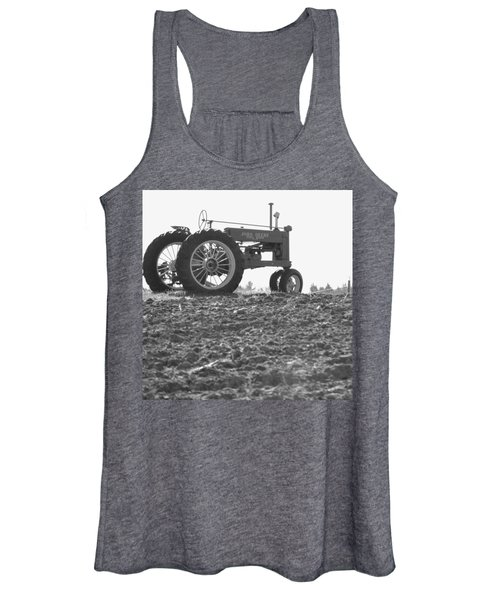 Old Tractor II In Black-and-white Women's Tank Top