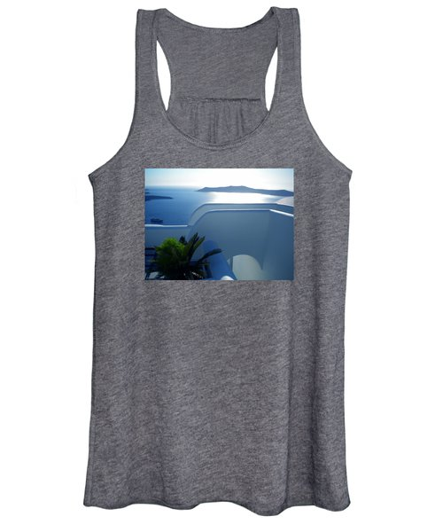 Peaceful Sunset Santorini Women's Tank Top