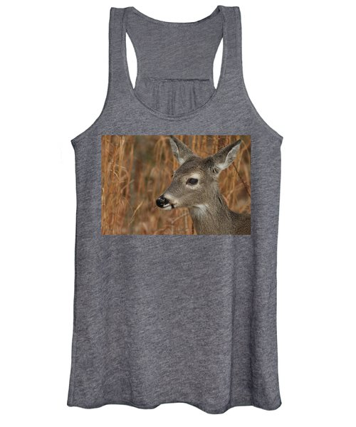 Portrait Of  Browsing Deer Women's Tank Top