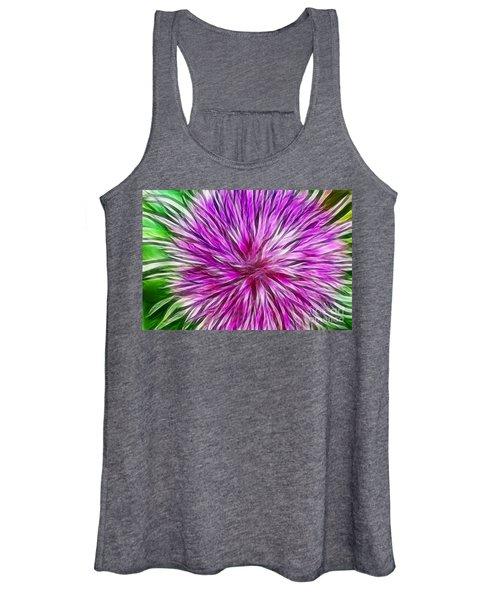 Purple Flower Fractal Women's Tank Top