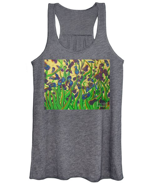 Purple Flowers Women's Tank Top