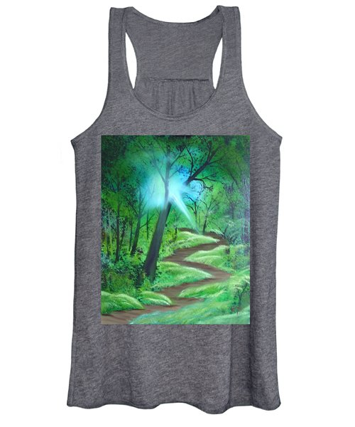Sunlight In The Forest Women's Tank Top