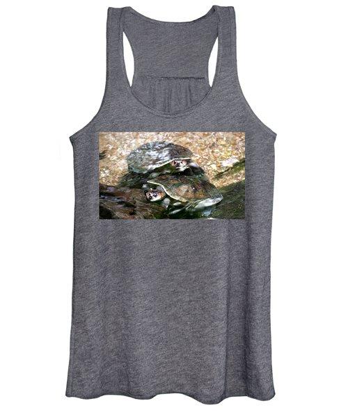 Turtle Two Turtle Love Women's Tank Top