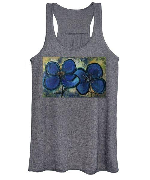 Two Blue Poppies Women's Tank Top