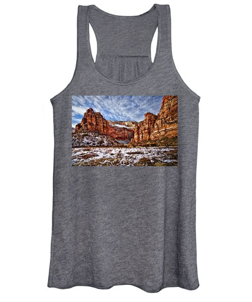 Zion Canyon In Utah Women's Tank Top