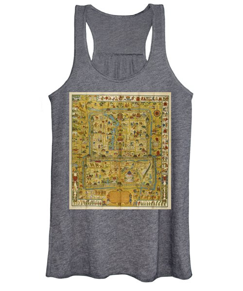 A Map And History Of Peiping Women's Tank Top