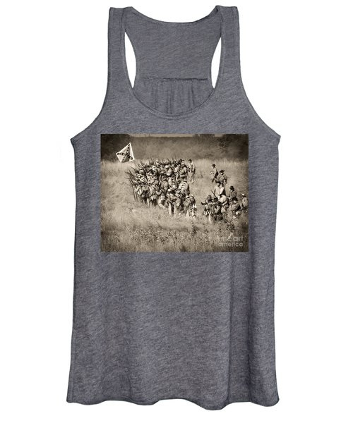 Gettysburg Confederate Infantry 9015s Women's Tank Top