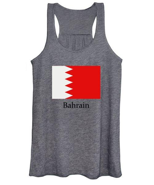 Bahrain Flag Women's Tank Top