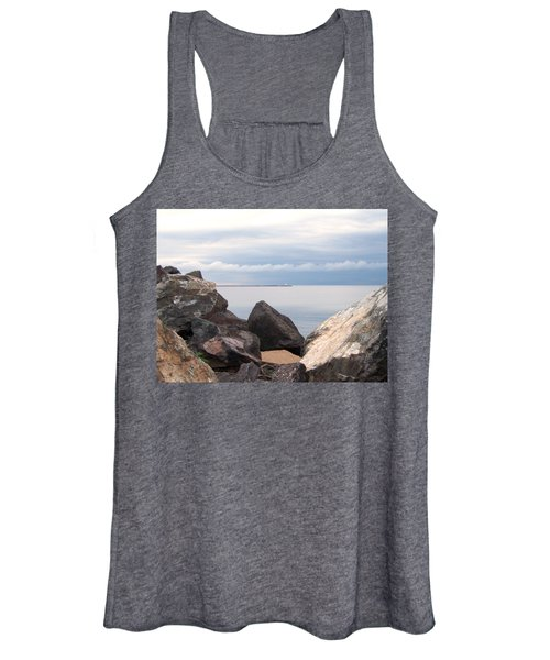 Break Wall On Lake Superior Women's Tank Top