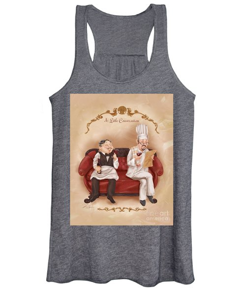 Chefs On A Break-a Little Conversation Women's Tank Top
