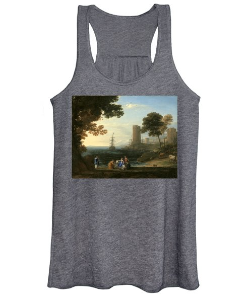 Coast View With The Abduction Of Europa Women's Tank Top