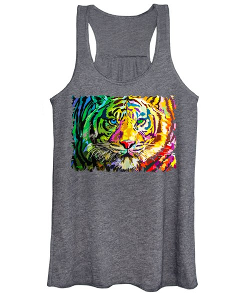 Colorful Tiger Women's Tank Top