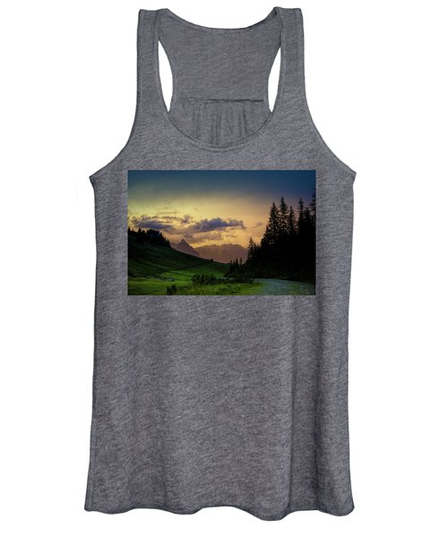 Evening In The Alps Women's Tank Top