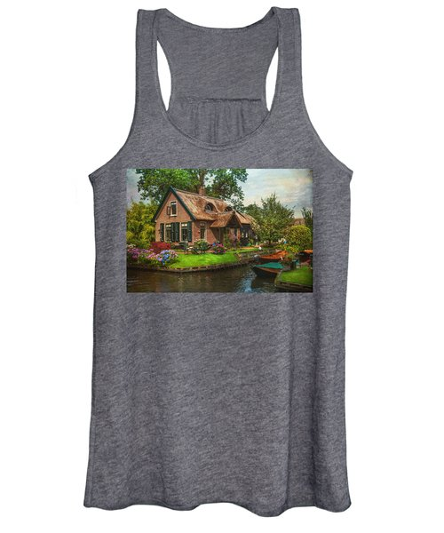Fairytale House. Giethoorn. Venice Of The North Women's Tank Top