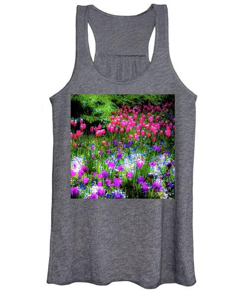 Garden Flowers With Tulips Women's Tank Top