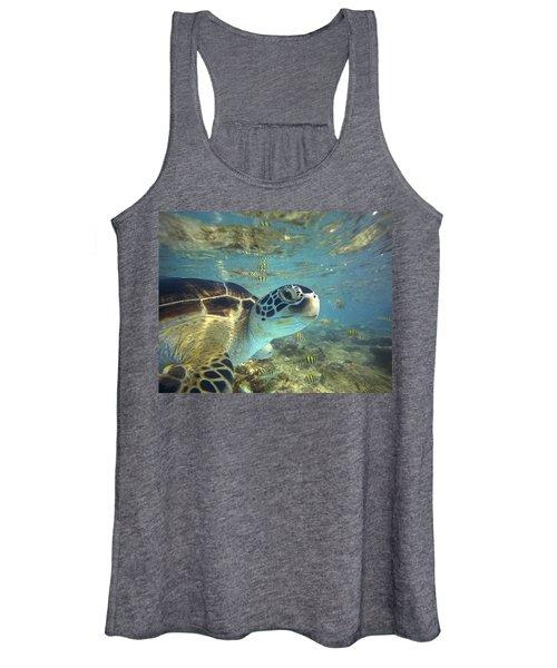 Green Sea Turtle Balicasag Island Women's Tank Top