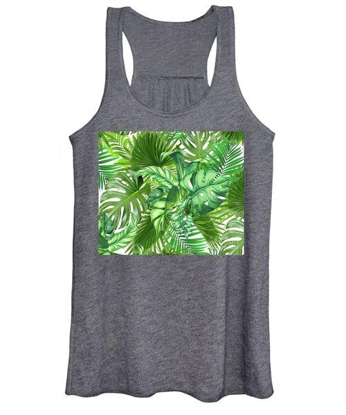 Green Tropic  Women's Tank Top