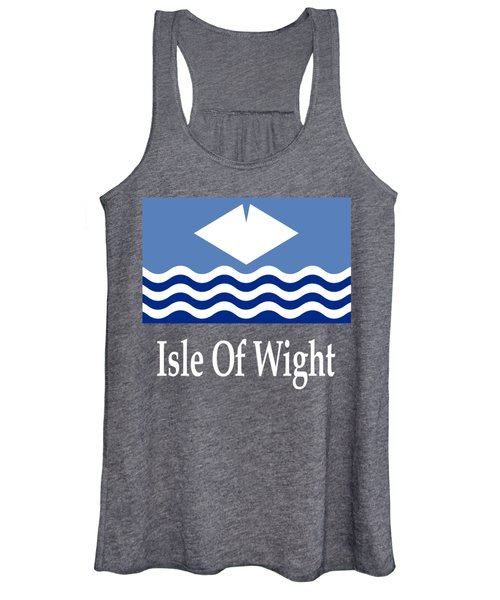 Isle Of Wight, England Flag And Name Women's Tank Top