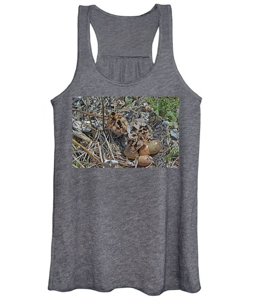Just Hatched American Woodcock Chicks Women's Tank Top