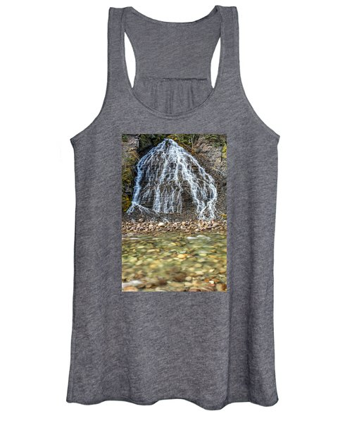 Cascades Of Maligne Canyon Women's Tank Top