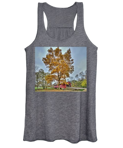Maryland Covered Bridge In Autumn Women's Tank Top